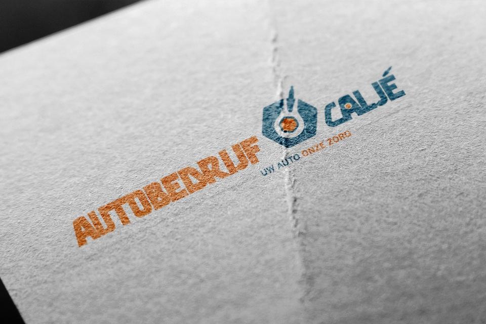 Logo ontwerp Autobedrijf Vlag Autobedrijf Caljé