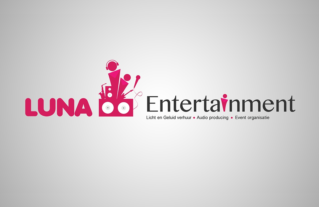 Luna-entertainment-event-logo-design