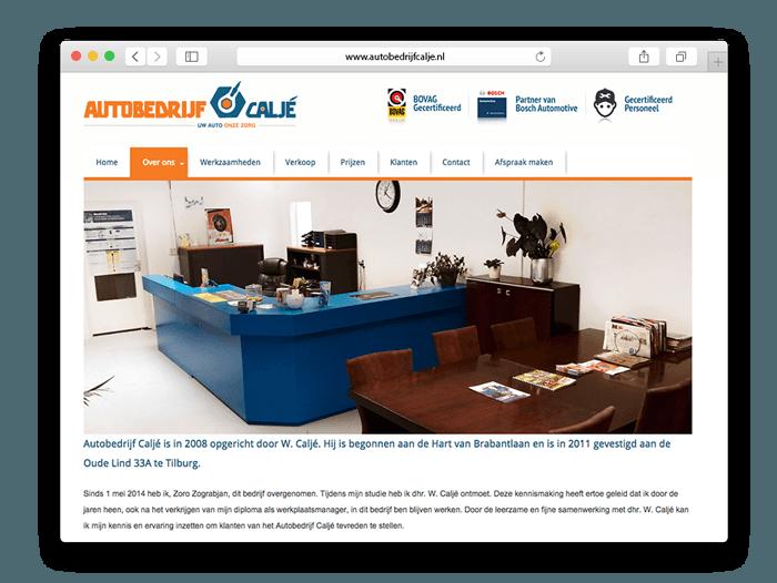 Website ontwerp Autobedrijf Caljé