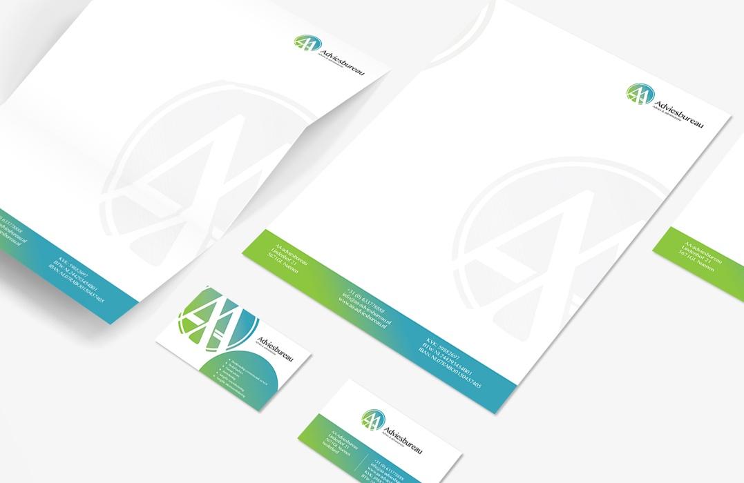 Huisstijl ontwerp voor AA-adviesbureau