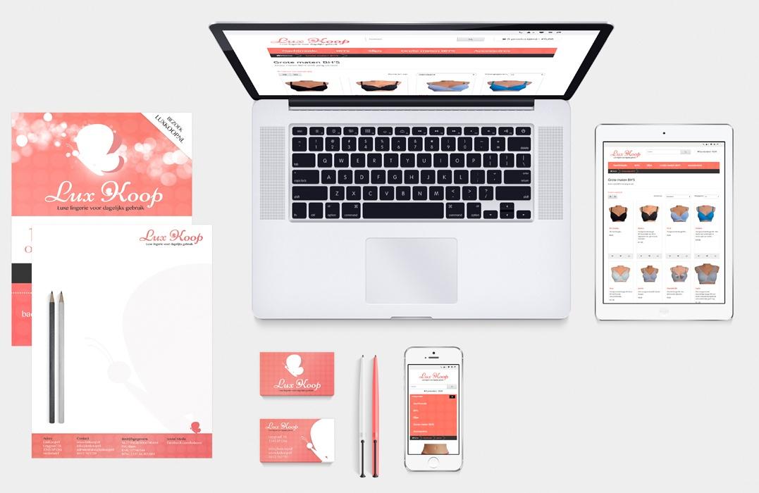 Huisstijl ontwerp Lux Koop lingerie webwinkel