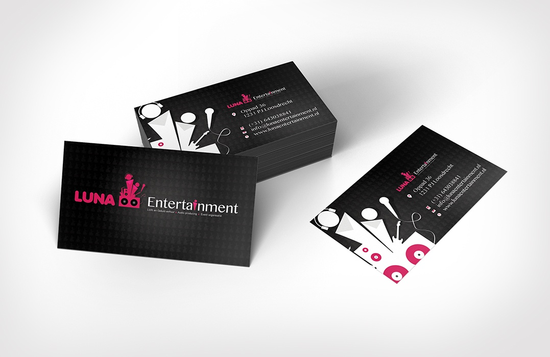 event logo design - Visitekaartje luna entertainment