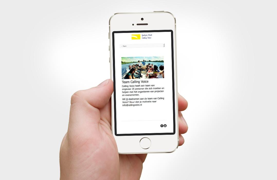 Responsive toegankelijke website ontwerp van stichting Calling Voice