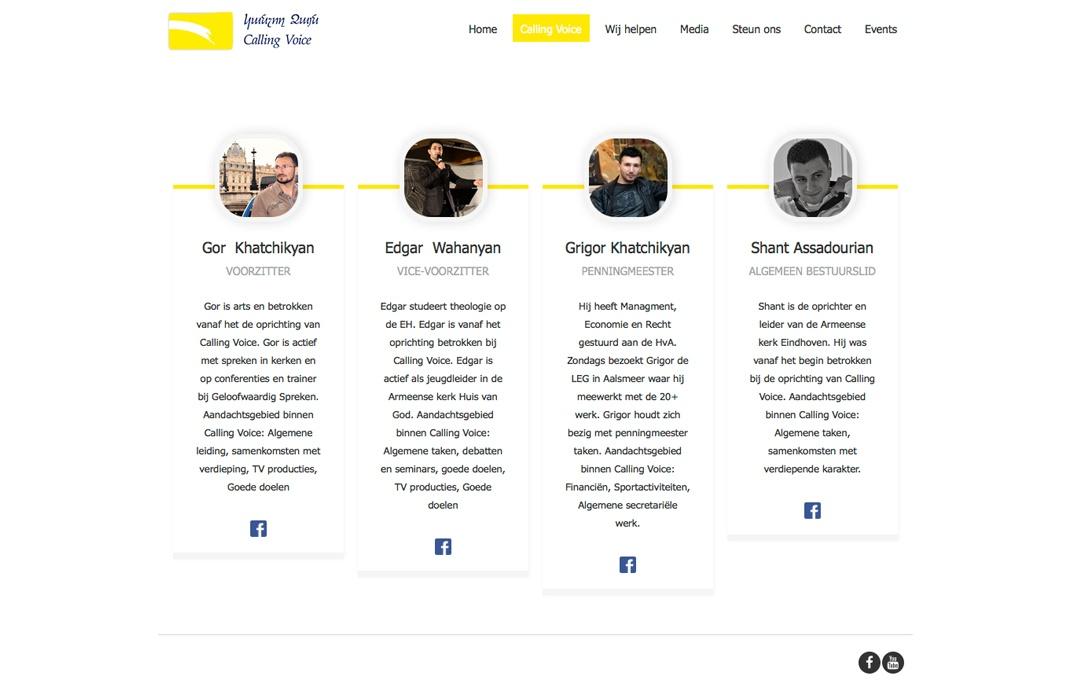 Overzichtelijke website voor stichting Calling Voice