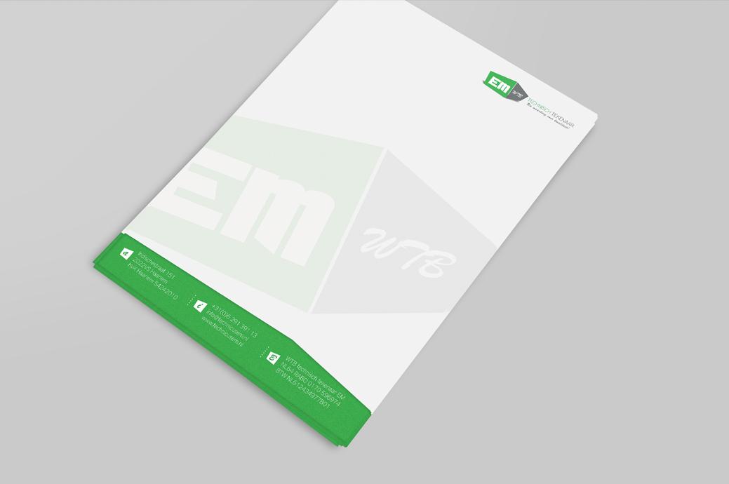 Huisstijl ontwerp - WTB Technische Tekenaar EM