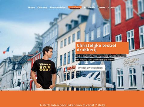 Christelijktshirt.nl website & flyer ontwerp